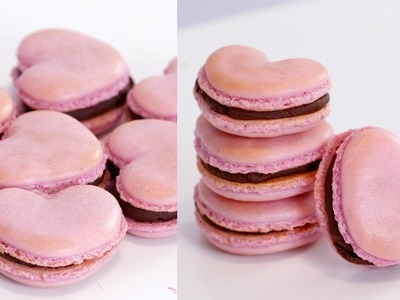How to Make (EASY!) Heart Macarons | RECIPE