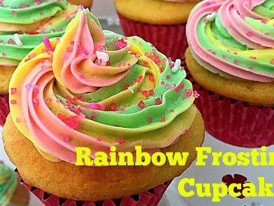 How to Make Easy Rainbow Frosting for Cupcakes | Unicorn Cupcakes