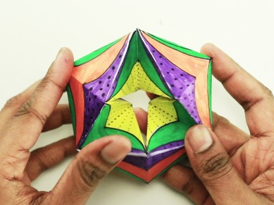 How to Make Endless 3D Flexagon Card