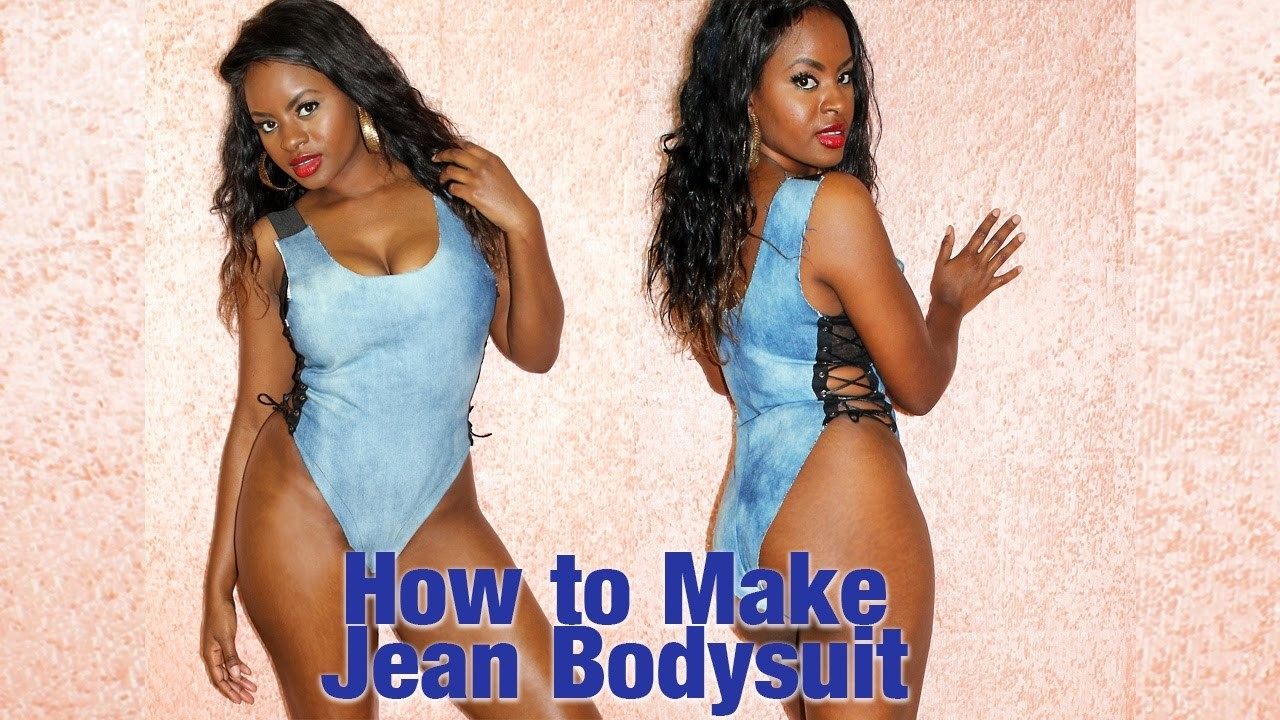 How to make Jean Bodysuit   baddie on a budget