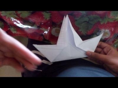 How to make paper nesting bird