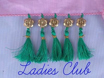 How to Make Saree Kuchu.Tassels using Beads Design - 11 I Detailed Tutorial. !!