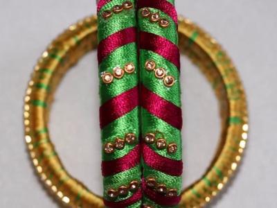How to make silk thread bangle