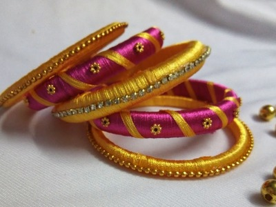 How to Make Silk Thread Bangles | DIY Jewellery | Design #2