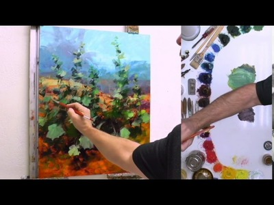 How to Paint Hollyhocks - Home on the Range Fast Motion