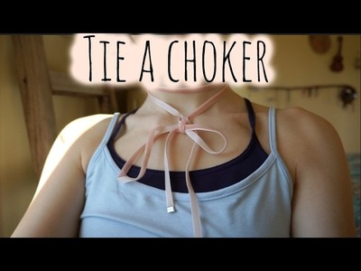 How to tie a wrap choker