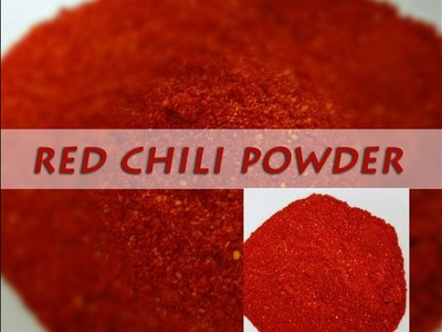 Learn how to make Red Chilly Powder in 1 minute |  लाल मिर्च पाउडर | Homemade Chilly Powder
