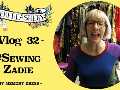 Making a Tilly and the Buttons Zadie + Knitting & Stitching Show Meetup | Vlog 32