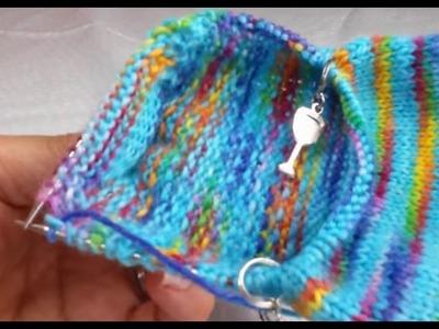 Sock knitting tutorial ( pick up stitches) part 5