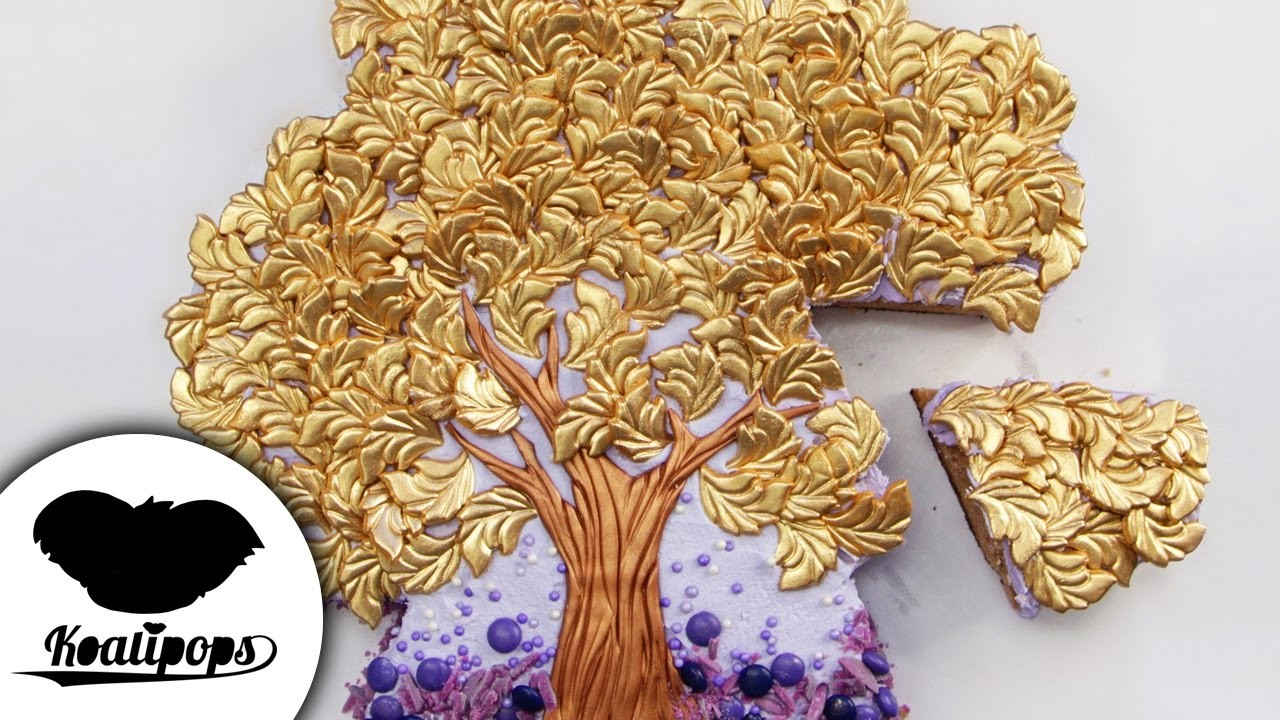 The Bronze and Gold Tree Cake | DIY & How to