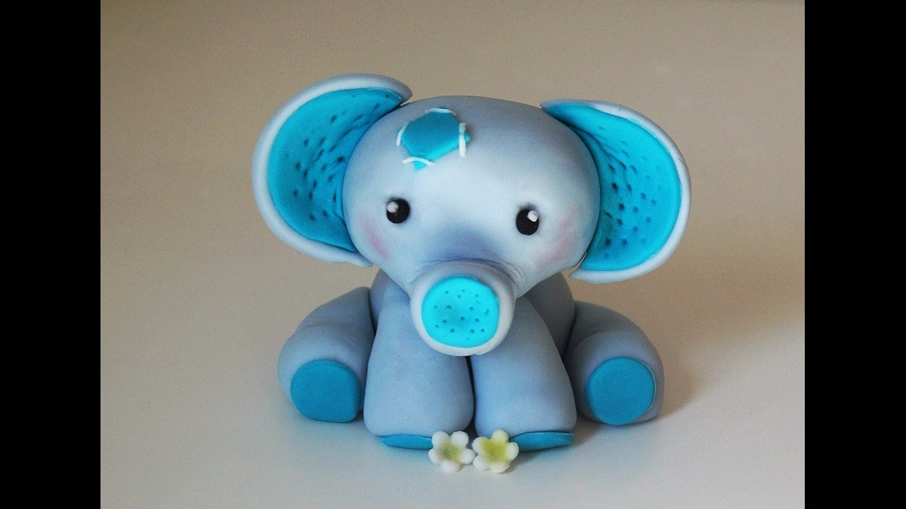 Cake decorating tutorials - how to make a baby elephant cake topper - Sugarella Sweets