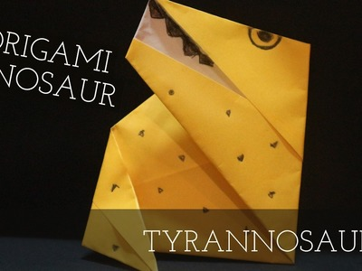 Cool easy origami-origami easy-origami dinosaur-how to make simple origami dinosaur