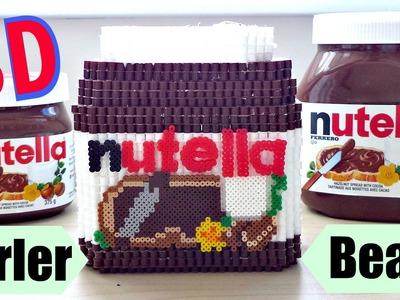 DIY 3D Perler Bead Nutella Jar.Container