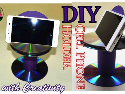DIY Cell phone Holder | Best out of Waste | CD.DVD | Art with Creativity 156