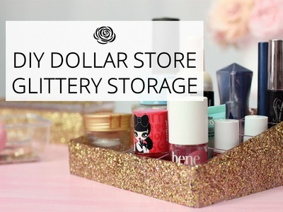 DIY Glitter Covered Dollar Store Storage Boxes | MAKE