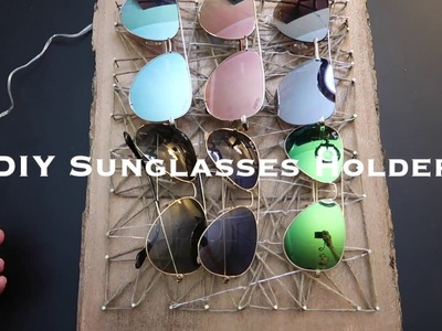 DIY HOW TO MAKE A SUNGLASSES HOLDER.EARRINGS HOLDER WITH LED LIGHTS