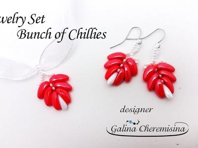 DIY: Jewelry Set  Bunch of Chillies [Video Tutorial]