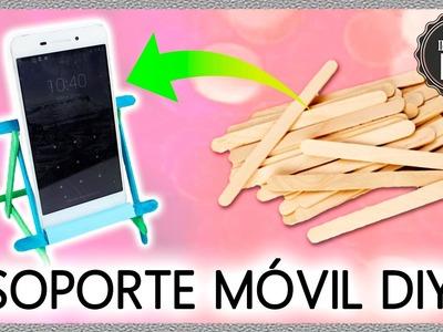 DIY Phone STAND with ice cream STICKS * Soporte para móvil CASERO con PALITOS ✅  Top Tips 1 minute