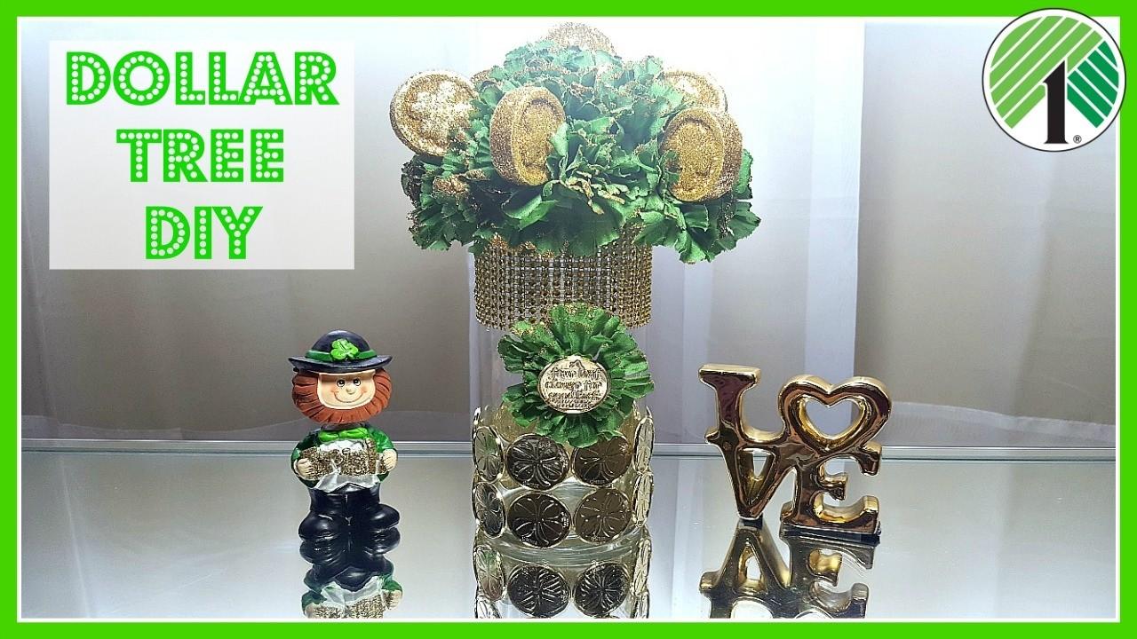 DOLLAR TREE DIY 2017, St. Patricks Day Floral Coin ...