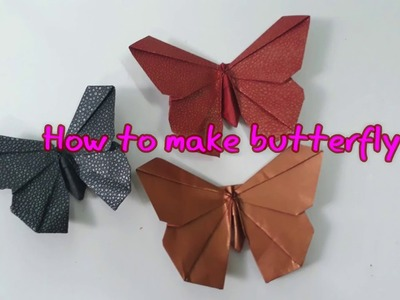 DYI   How to make butterfly by art paper