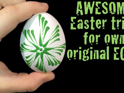 Easter egg wax decoration DIY trick