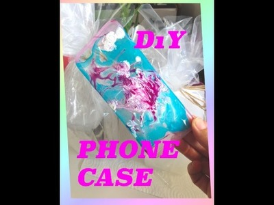 EASY DIYs-HOW TO DESIGN A PHONE CASE WITH NAIL POLISH. DIY PHONE CASE DESIGN