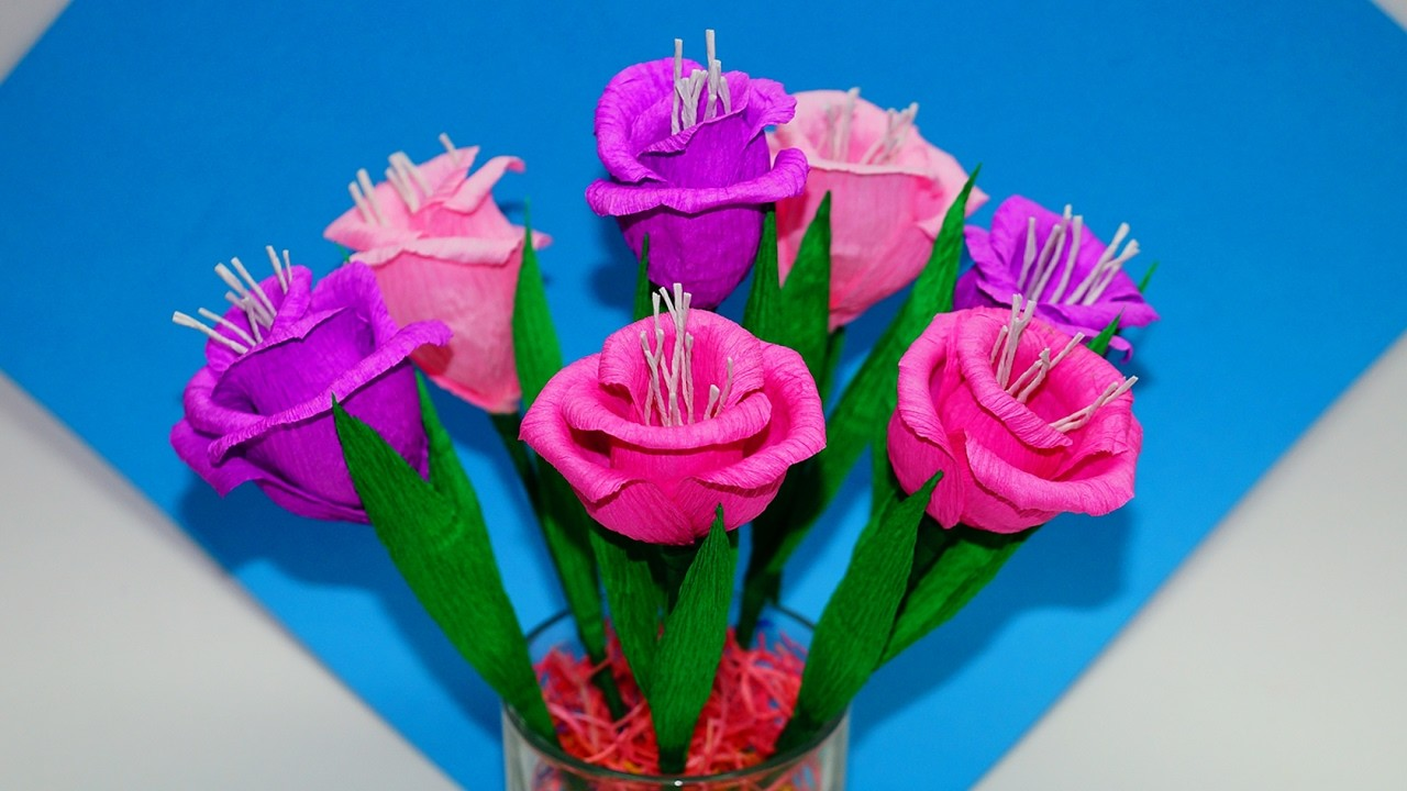 Easy Flowers Making How To Make Flower Bouquet Gift Ideas Paper