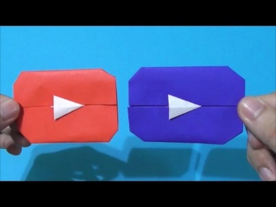 Easy Origami How to Make Youtube Play Button 简单手工摺紙  YouTube播放按钮  簡単折り紙 youtubeの再生ボタン です