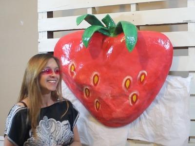 Giant Juicy Strawberry Paper Mache DIY