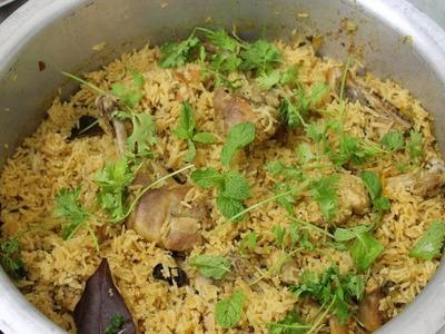 GrandPa Recipes: How To Make Village Style Chicken Biryani  || Food.in