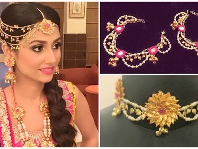 Handmade gota jewellery for mayoon.mehndi bride (DIY)