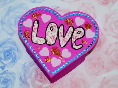 Heart box making. DIY paper crafts - heart box gift a smart way to present your gift. Julia DIY