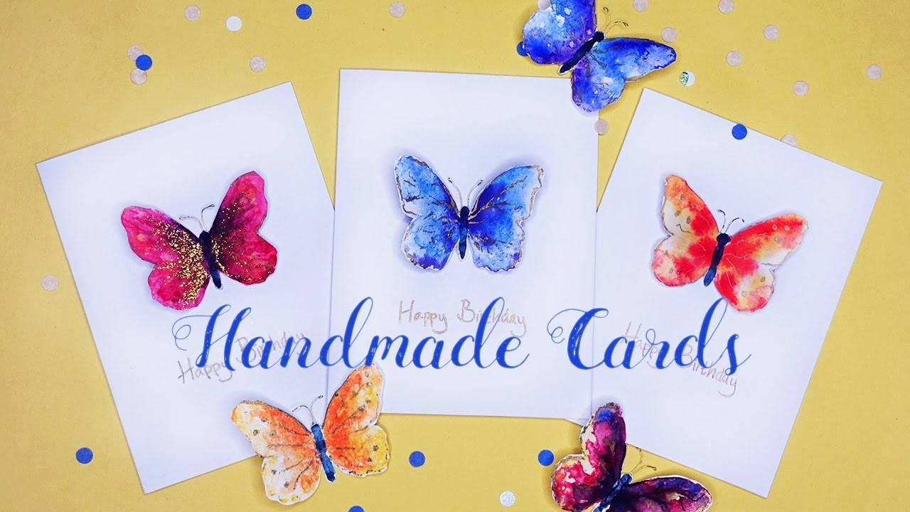 How to: Beautiful Handmade Butterfly Cards | DIY Tutorial