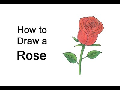How to Draw a Rose for Valentine's Day
