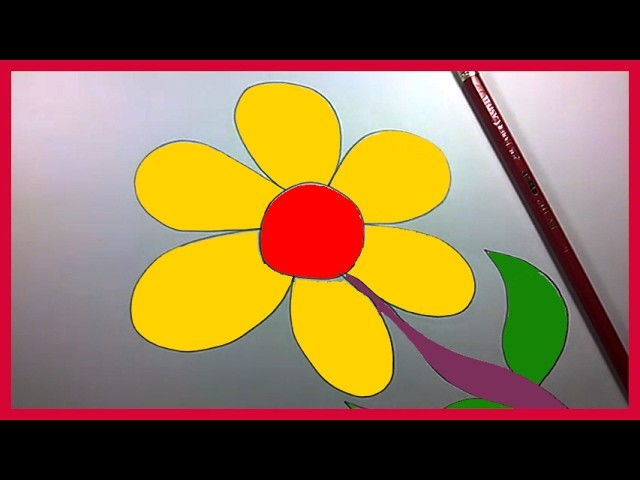 How to Draw a Simple Flower Step by Step