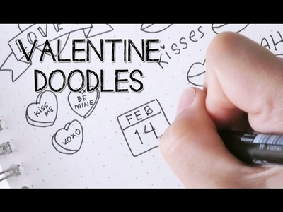 How to Draw Cute and Easy Valentine Doodles | Doodle with Me