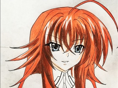 How to draw Rias Gremory (Highschooldxd)