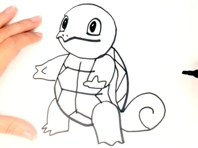 How to draw Squirtle Pokemon Step by Step | Squirtle Easy Draw Tutorial