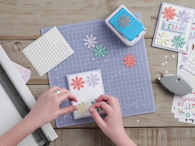 How To Make A Daisy Punch Card by Creative Memories