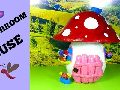 How to make a mushroom house Diy miniature house