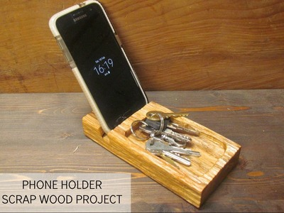 How To Make a Wooden smartphone Holder from Scrapwood - Upcycle - DIY