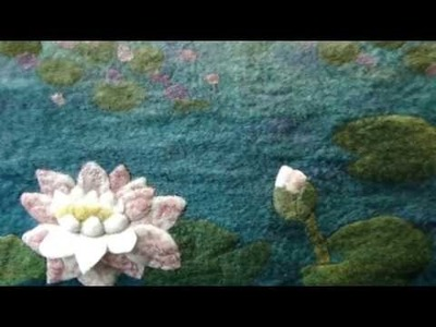 How to make an Artfelt Water Lily Felt Picture inspired by Monet Part 2