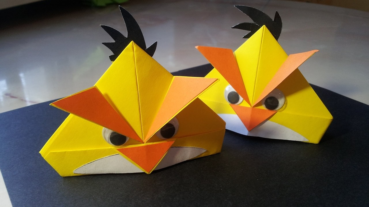 How To Make Angry Bird Paper Crafts Origami