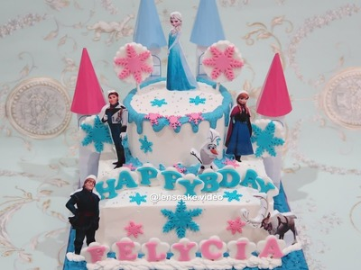 How to Make Birthday Cake Frozen Elsa - Cara Membuat Kue Ulang Tahun Frozen