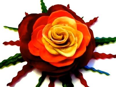 HOW TO MAKE CARROT BEET ROSE FLOWER - ART IN CARROT & VEGETABLE CARVING DESIGN GARNISH