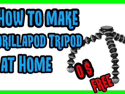 How to Make DIY Tripod Stand at Home | How to Make a Gorillapod Tripod Stand | How to Make Tripod