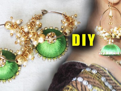 How to Make Earrings Zardosi Princess Model | | ZoolTv