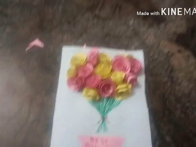 How to make Easy Chart Paper Rose Flowers Do It Yourself for Kids -  Tamil Version!