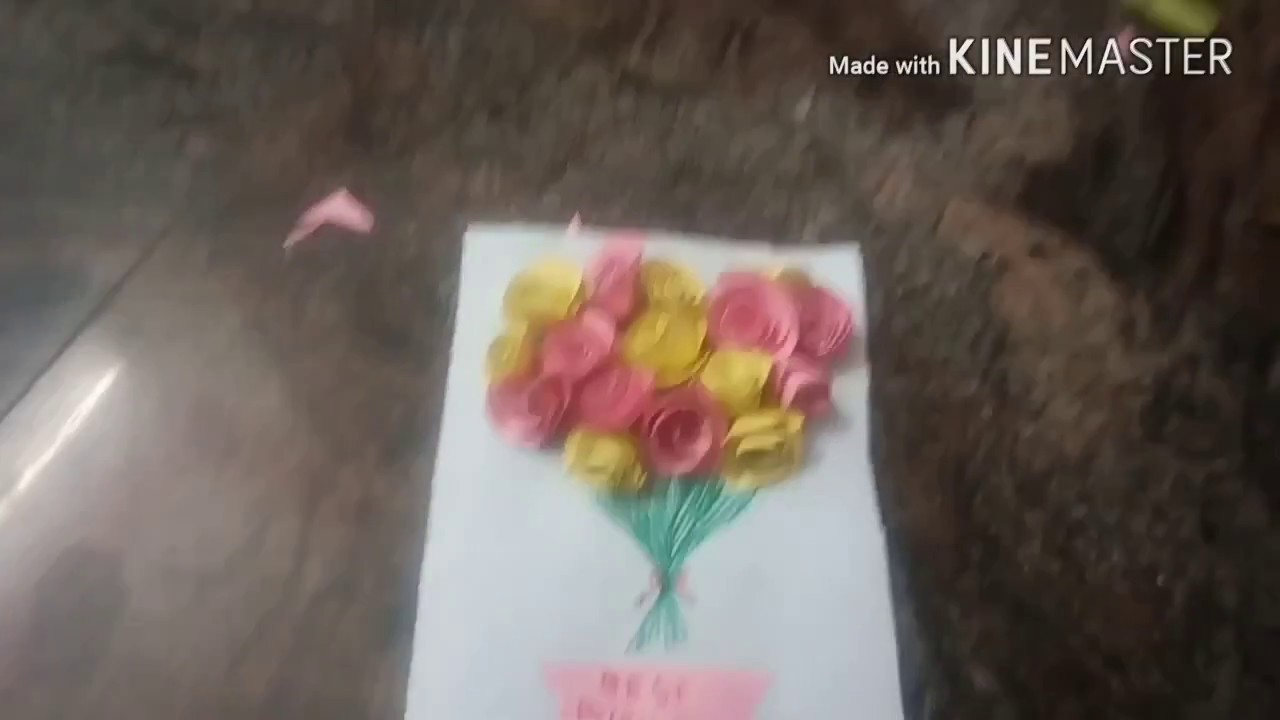 How To Make Easy Chart Paper Rose Flowers Do It Yourself For Kids