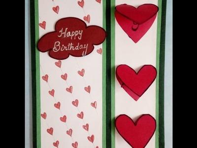 How to make handmade birthday card:simple tutorial